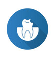 broken tooth flat design long shadow glyph icon vector image vector image