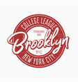 brooklyn vintage typography for slogan t-shirt vector image vector image