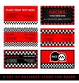 Business card driver race - fifth set vector image vector image