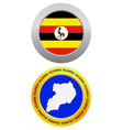 button as a symbol map UGANDA vector image vector image