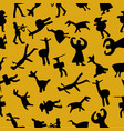 caveman seamless pattern at yellow background vector image vector image