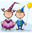 Children in fancy dresses vector image