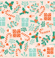 christmas holidays seamless pattern winter vector image vector image