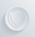 circle icon with a shadow protection shield vector image vector image
