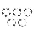 Circular arrows icon set vector image vector image