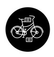 city bicycle black icon sign on isolated vector image vector image