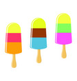 colored ice cream isolated vector image