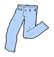 comic cartoon jeans vector image