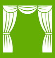 curtain on stage icon green vector image vector image