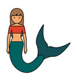 cute smiling mermaid ico vector image vector image