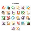 English animals zoo alphabet vector image