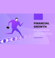 financial growth vector image vector image