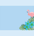 flamingos and flowers vector image vector image