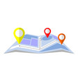flat gps location pointer on map vector image