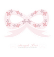 flower bow background vector image