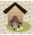 Funny dog in the house vector image vector image
