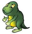 green brontosaur vector image vector image