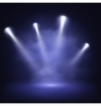 Illuminated stage with scenic lights and smoke vector image vector image