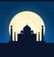 india taj mahal silhouette of attraction travel vector image