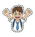 Isolated school boy design vector image
