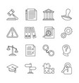 legal compliance and regulation line icons vector image vector image