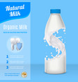milk advertising realistic composition vector image vector image