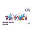 music festival in india landing page musician vector image