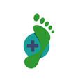 new creative podiatric feet care foot print logo vector image vector image