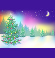 new year northern lights vector image vector image