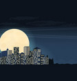 night cityscape in flat style vector image vector image