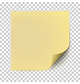 office yellow paper sticker with shadow isolated vector image