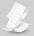 Paper drop 02 02 vector image vector image