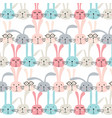 pattern with cute bunnies vector image vector image