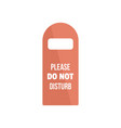 please do not disturb room tag icon flat style vector image vector image