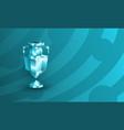 polygonal soccer trophy logo for football vector image vector image