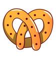 pretzel icon cartoon style vector image vector image