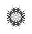 round black mandala snowflakes vector image vector image