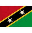 Saint Kitts and Nevis paper flag vector image vector image