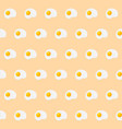 scrambled eggs seamless pattern vector image