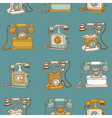 Seamless Vintage Telephones vector image vector image