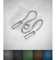 skipping rope icon Hand drawn
