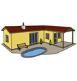 Small low house vector image vector image