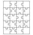 small white puzzle vector image