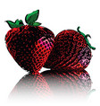 strawberries isolated on white background vector image vector image