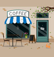 street cafe outdoor terrace flat design vector image