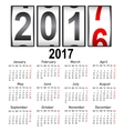 Stylish calendar for 2017 Week starts on Monday vector image vector image