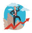 successful businessman or leader looking vector image