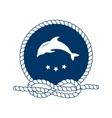 symbol sailors sail cruise and sea vector image vector image