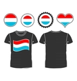 t-shirt with flag luxembourg vector image