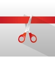 Tape and scissors with long shadow vector image vector image